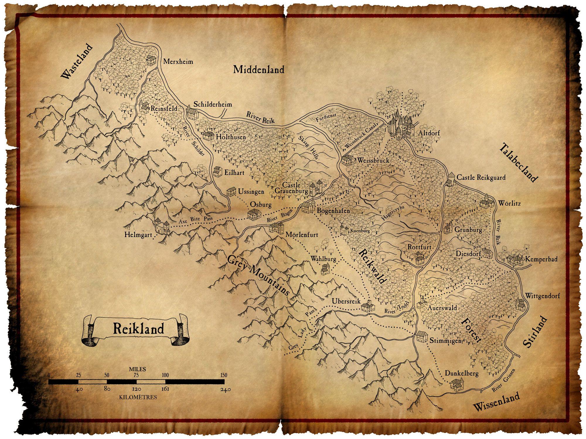 Talabheim map Warhammer Fantasy RP in 2019 t Warhammer