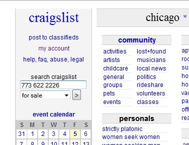 Craigslist personals chicago il