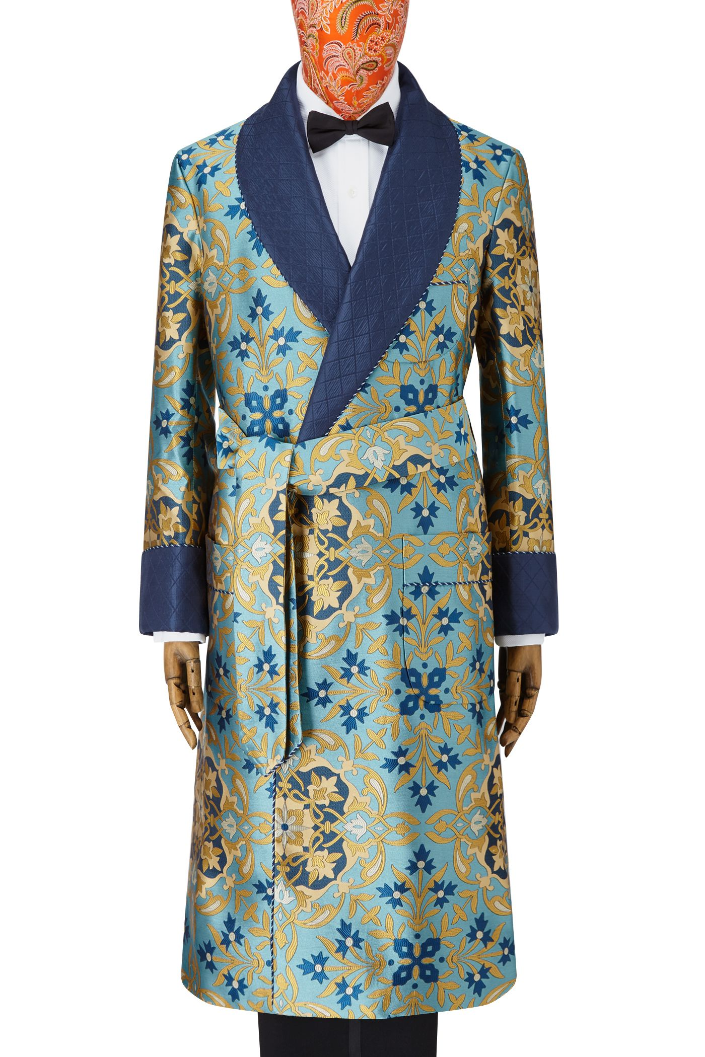 Turquoise Gothic Lined Silk Dressing Gown | Pinterest | Gowns, Male ...