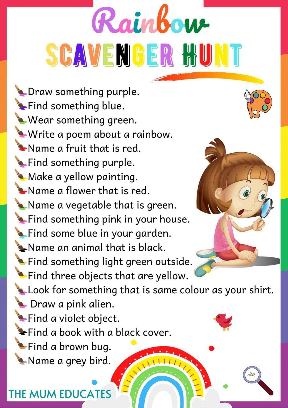 Free Printable Scavenger Hunt for Kids Ideas The Mum