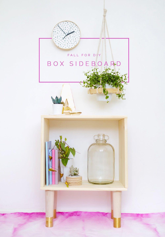 DIY Box Sideboard | Fall For DIY · Diy MöbelMachsDeko HolzEinfache ...