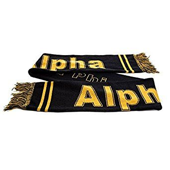 Alpha Phi Alpha Fraternity Greek Letter Fringed Scarf at Amazon Men's Clothing store: