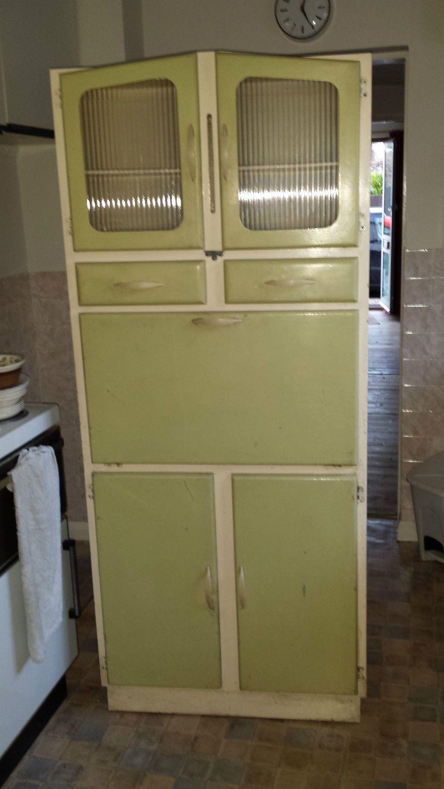 Vintage 1960 1950s Kitchen Unit Cupboard Larder Kitchenette Ebay Cupboard Kitchen Units Vintage Kitchen Cabinets