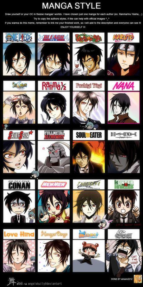 Manga Kuroshitsuji Style Meme Animasi Ilustrasi