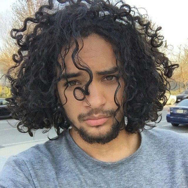 Curly hair men image by Jeff Paris on Eyes | Long hair styles, Long hair styles men