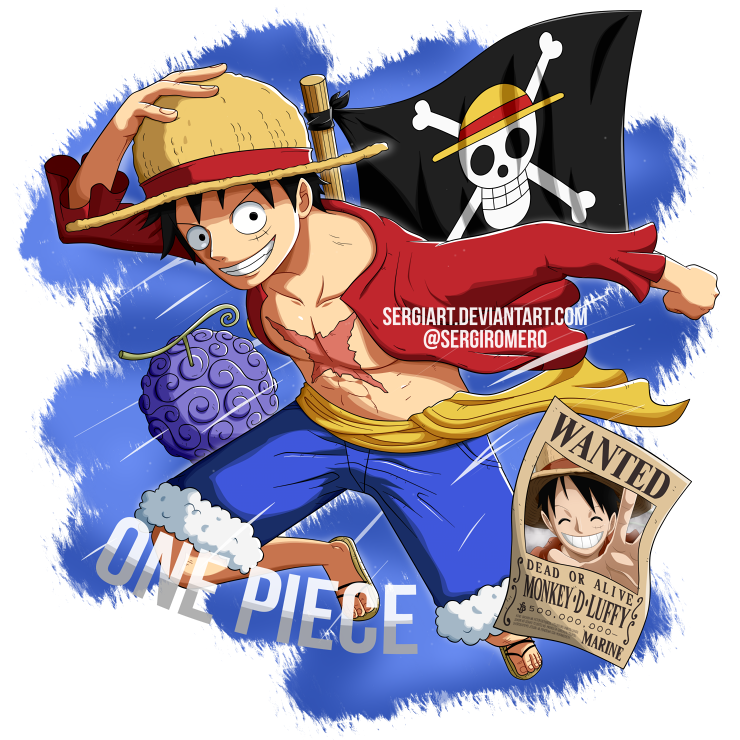 One Piece Monkey D Luffy By Sergiart One Piece Anime Luffy One Piece Luffy
