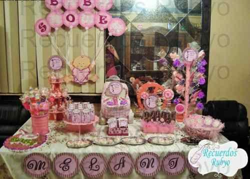 Mesa De Dulces / Candy Bar Para Baby Shower. México DF Envíos A Toda La