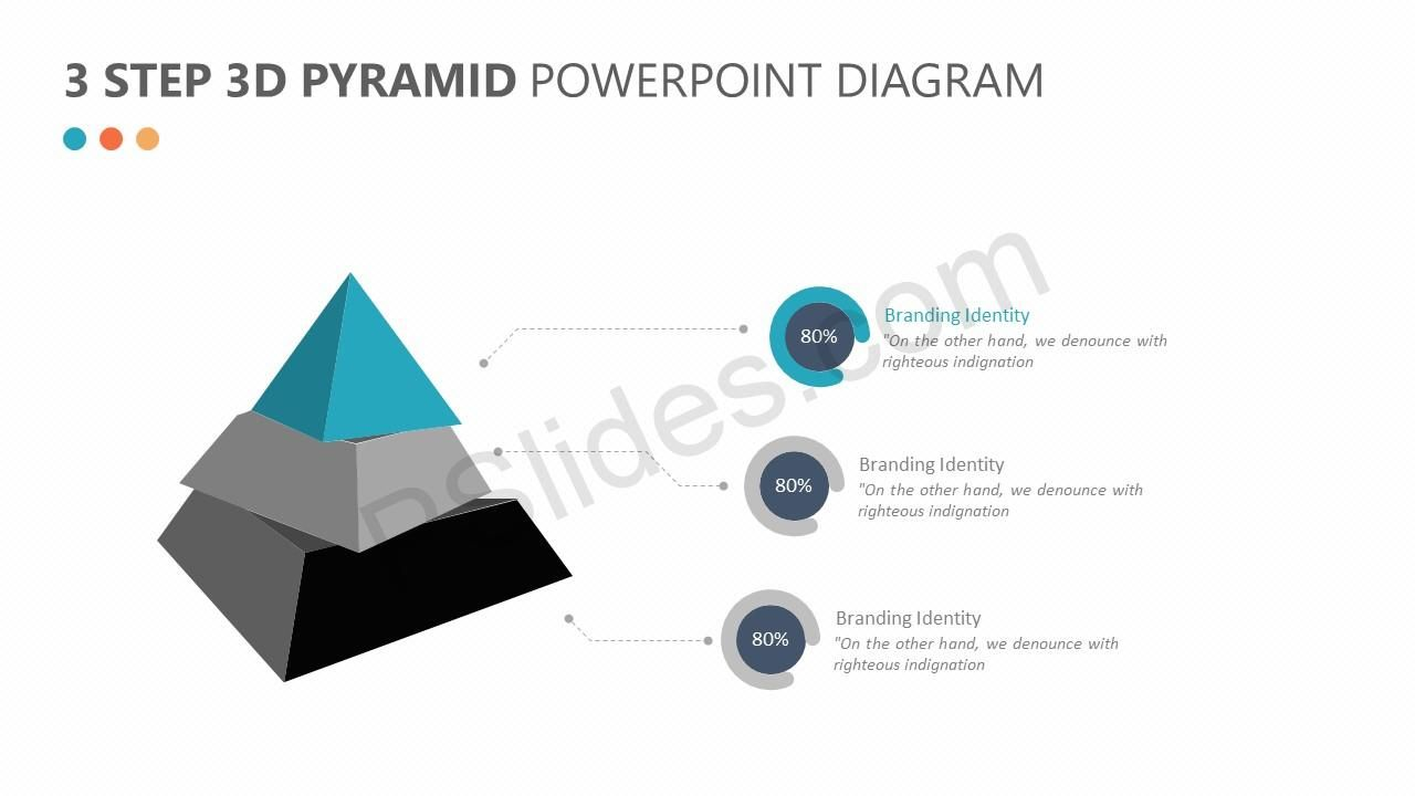 3 Step 3d Pyramid Powerpoint Diagram Powerpoint Diagrams