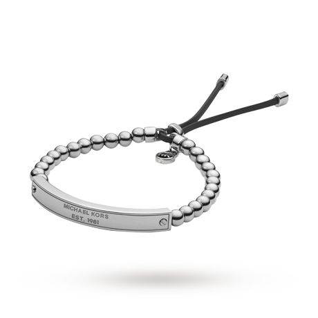 For Her Michael Kors Logo Plaque Friendship Bracelet