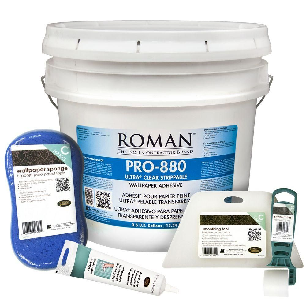 Roman Pro 880 3 5 Gal Wallpaper Adhesive Kit For Large