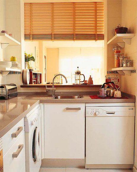 resultado de imagen para modelos de cocinas pequeas y sencillas con ventana