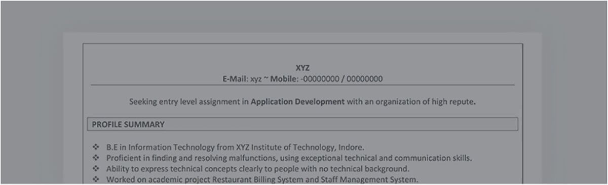 Resume Format for Engineers - Get Online Resume Format recommended - resume profile summary