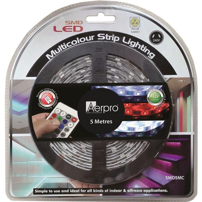 Aerpro multicolour led 5m strip lighting strip lighting