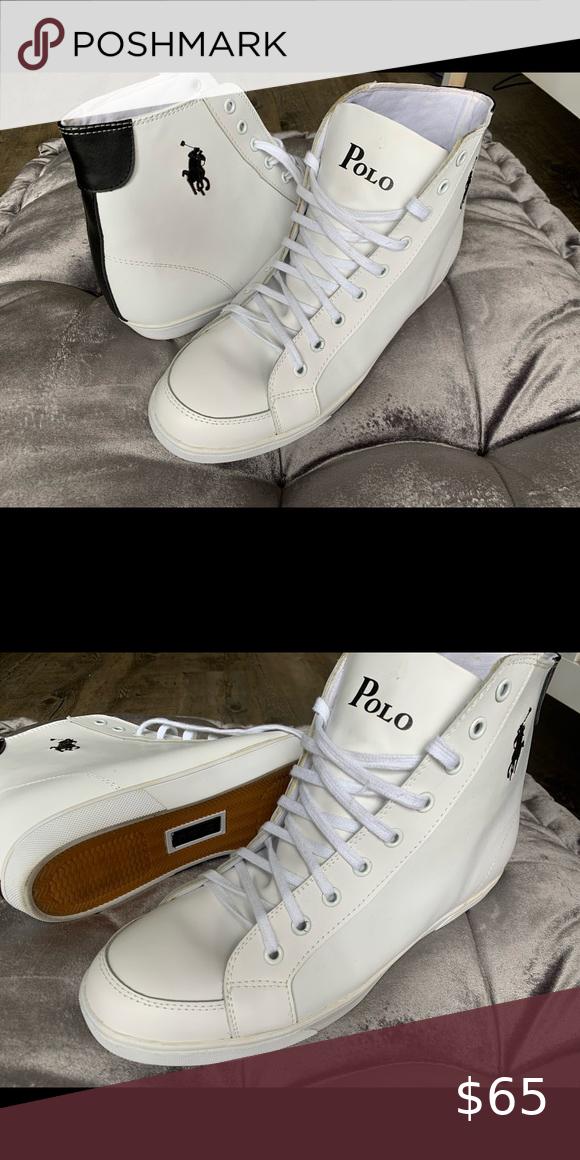 Polo Ralph Lauren - White high tops in