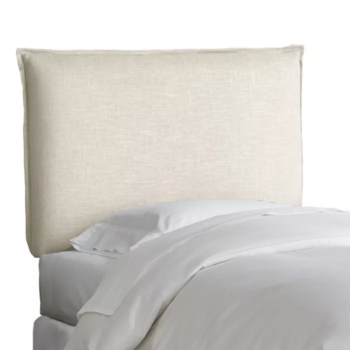 Kids' French Seam Linen Upholstered Headboard Linen - Pillowfort™