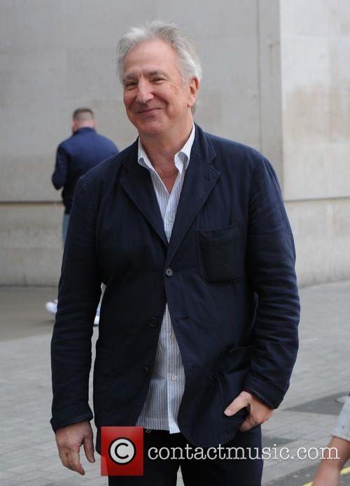 Alan Rickman leaving the BBC studios - London. 17th April 2015