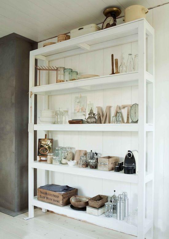 ceiling height white shelf | Shelves | Pinterest | Die küche, Diy ...