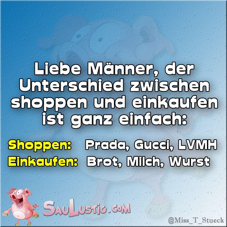 Frauen einkaufen sprüche