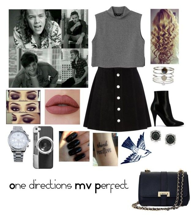 """1D's music video for Perfect❤️"" by tiffany-london-1 ❤ liked on Polyvore featuring AG Adriano Goldschmied, Monki, Yves Saint Laurent, Aspinal of London, Accessorize, Mark Broumand, Michael Kors, Casetify, Floss Gloss and Tattly"