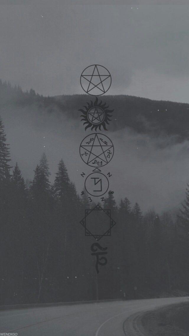 SPN symbols Fondo sobrenatural, Fondo de pantalla