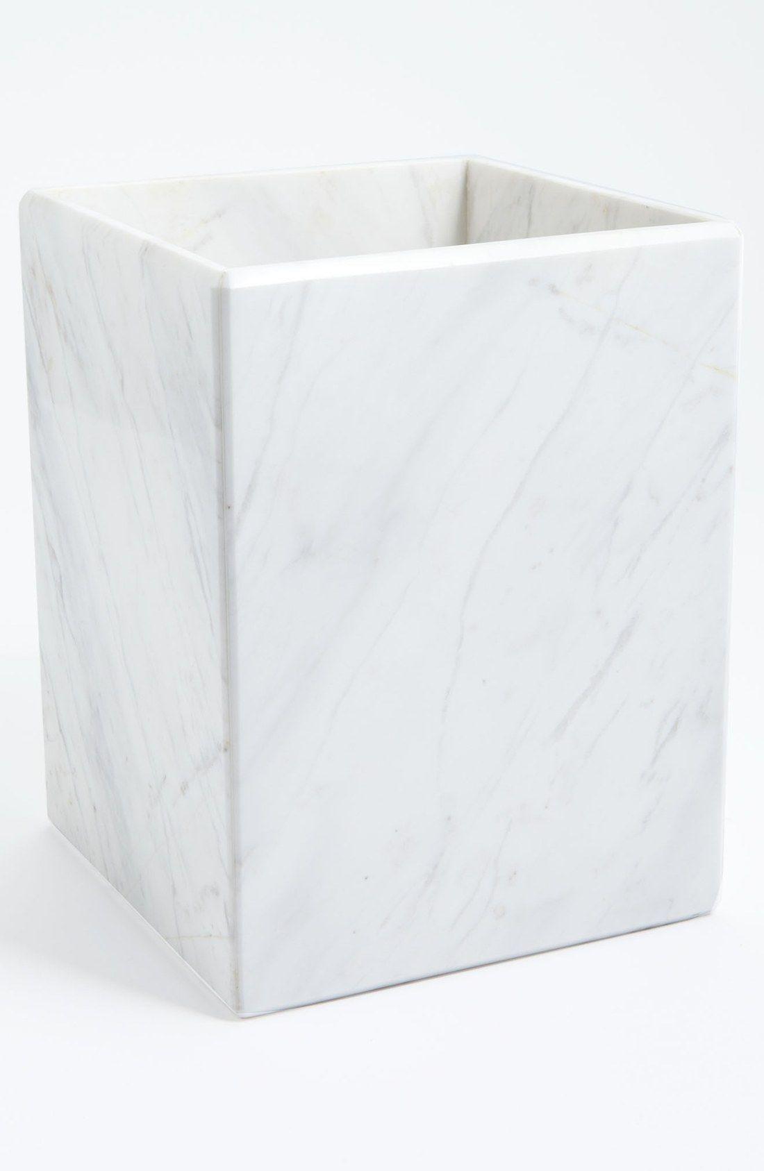 waterworks studio 'luna' white marble wastebasket (online only  - waterworks studio 'luna' white marble wastebasket (online