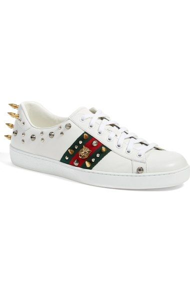 1cf00d1eef7 GUCCI  New Ace Punk  Studded Sneaker (Men).  gucci  shoes