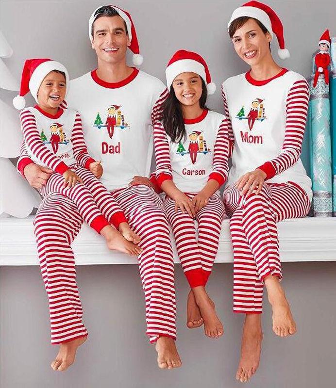 9dd5cc80f7b6 ... Mother Daughter 2017 Fashion Father Son Mon New Year Family Look Sets. Family  Matching Christmas Pajamas Set Women Baby Kids Deer Sleepwear Nightwears