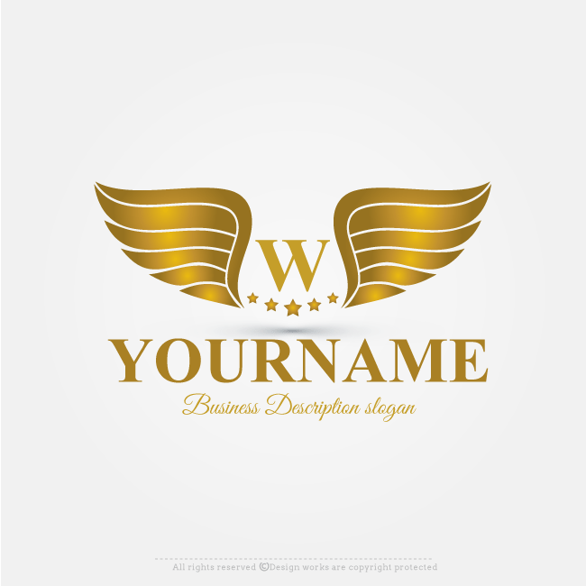 Online Free Logo Maker Golden Wings Logo Design Wings