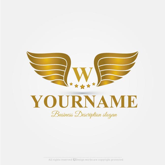 Online free logo maker alphabet golden wings logo design best online free logo maker golden wings logo design flashek Choice Image