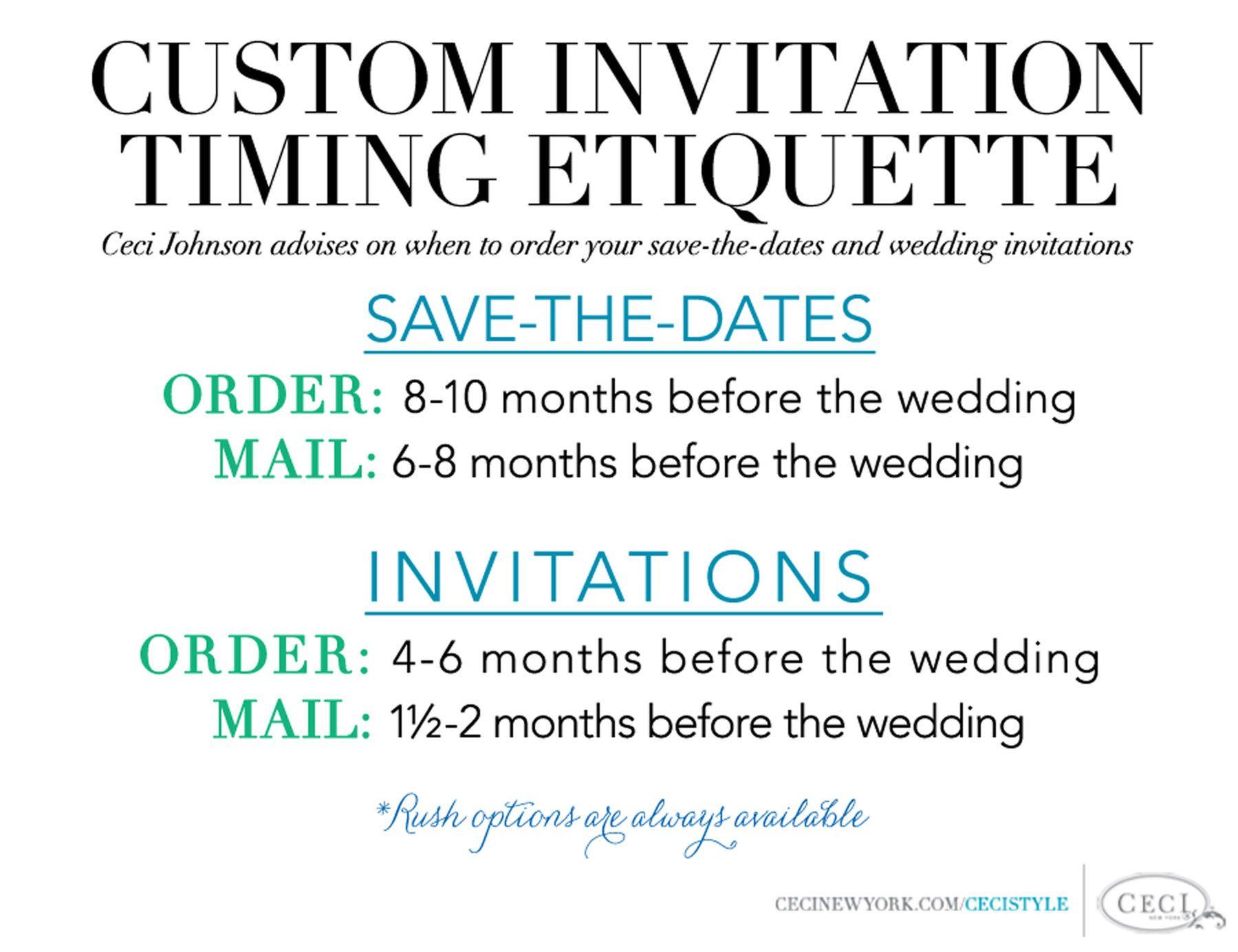 Custom Invitation Timing Etiquette - Ceci Johnson advises on when to ...