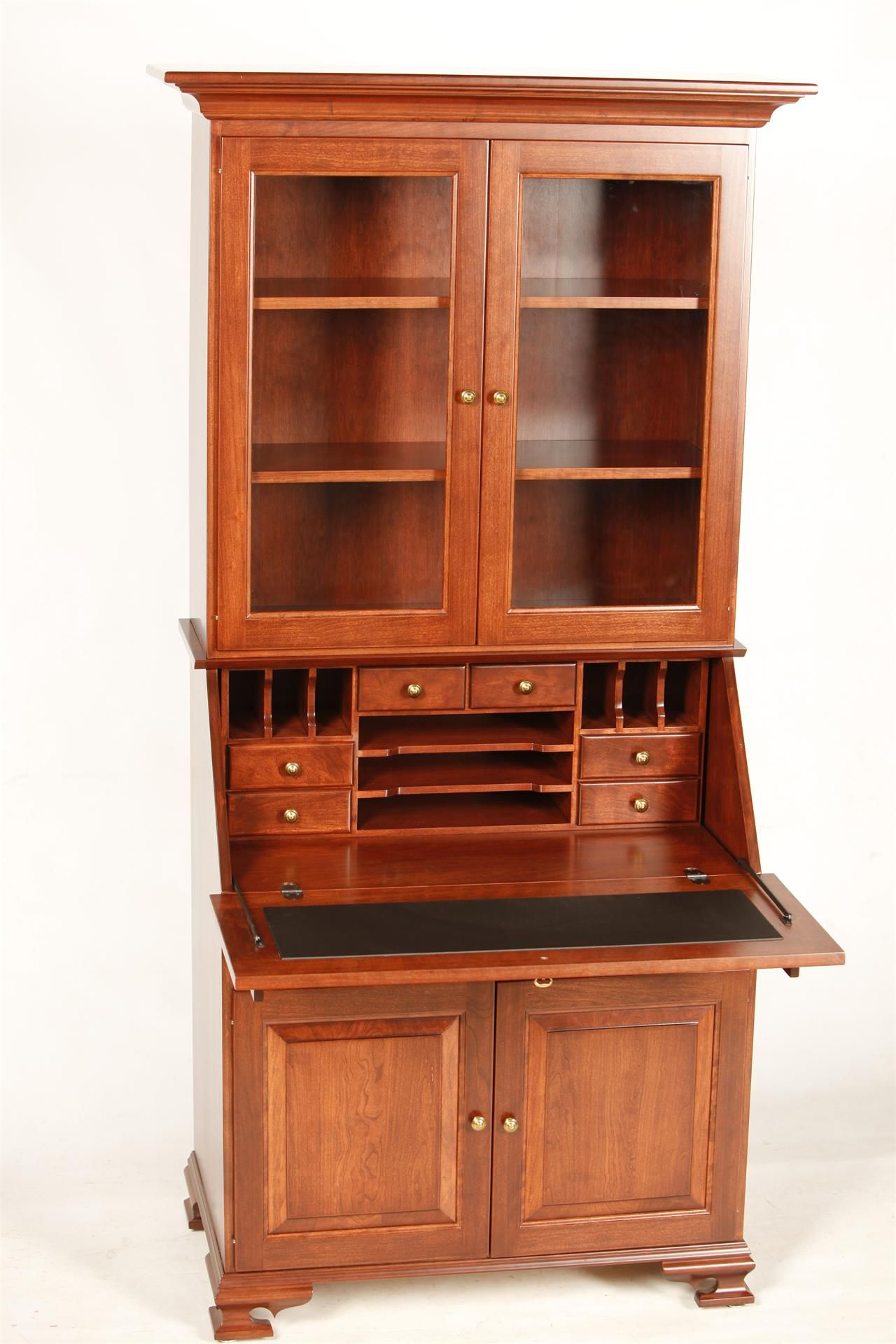 Amish Kitchen Cabinets Near Me Amish Glenmont Secretary Desk With Hutch Top