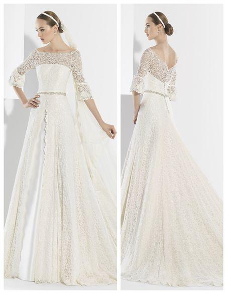 Vestidos de novia de encaje de algodon