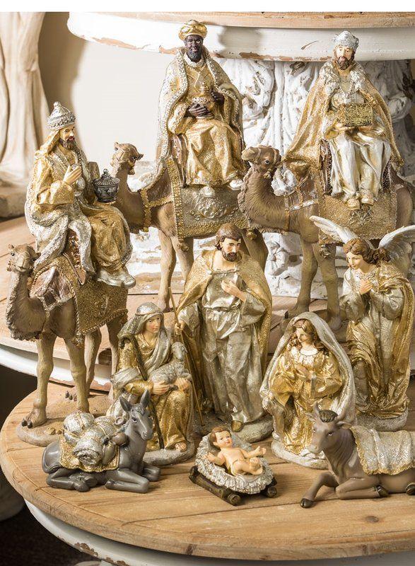 7 Piece Nativity Tabletop Decor Set Christmas nativity