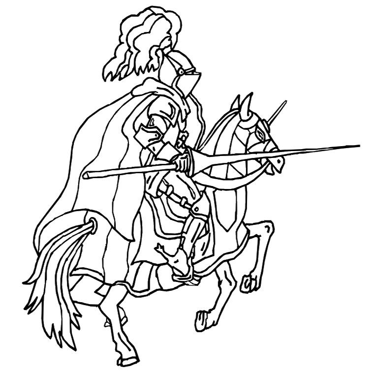 Coloriage Chevalier Moyen Age A Imprimer Gratuit Coloriage