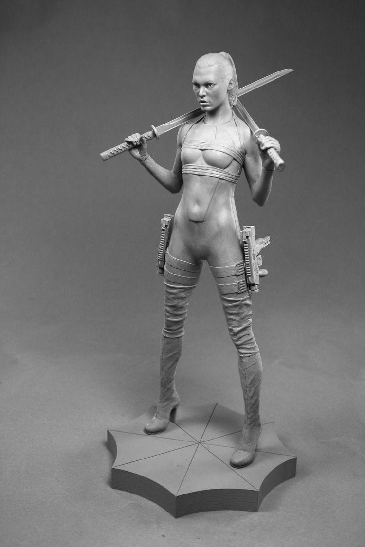 Female nude study feral warrior