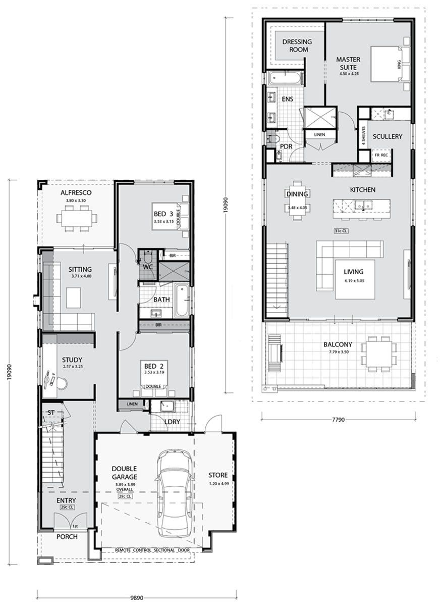 Wide Lot House Plans 2020 Two Storey House Plans Double Storey House Plans Narrow House Plans