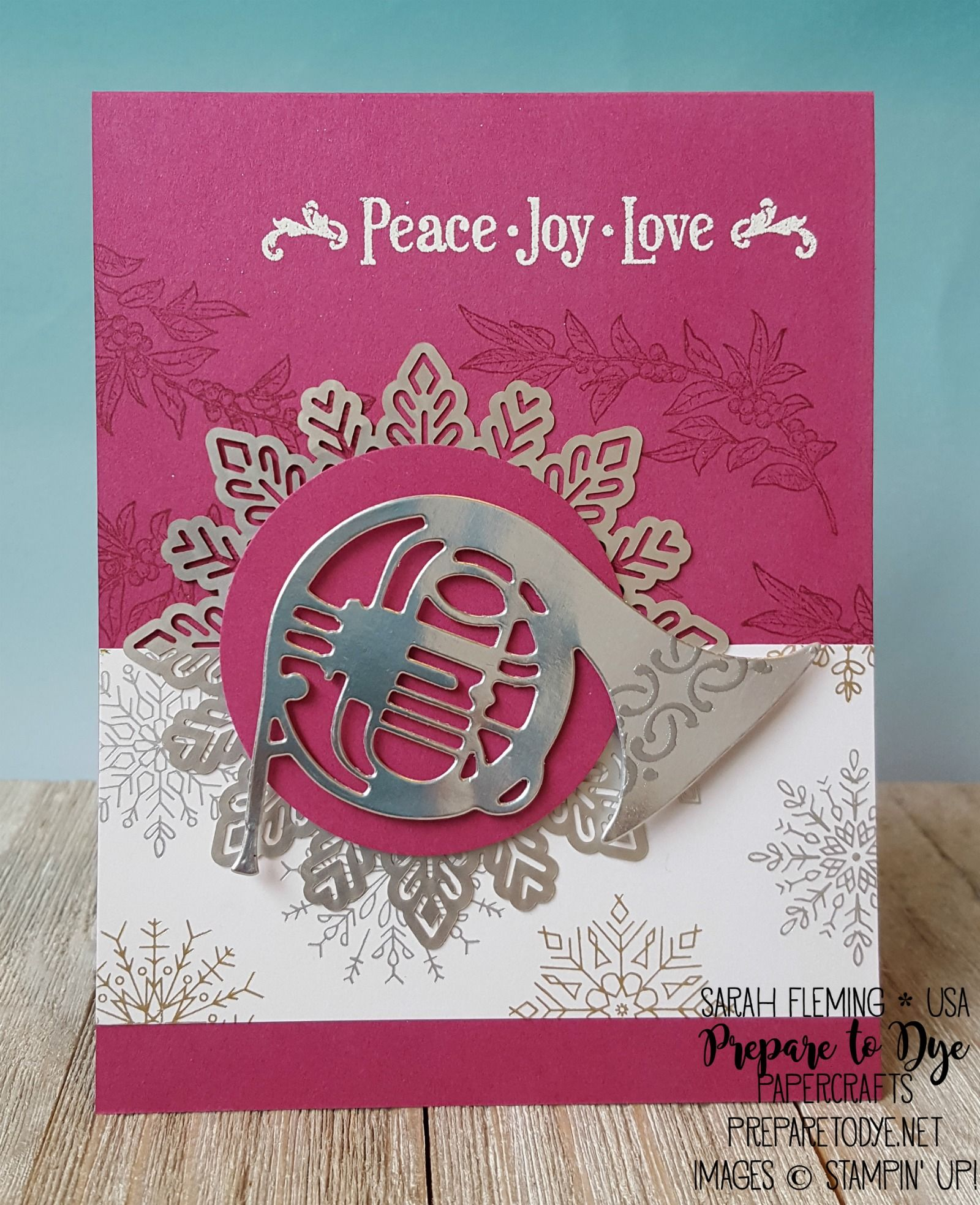 Stampin Up Musical Season Bundle With Year Of Cheer Paper,