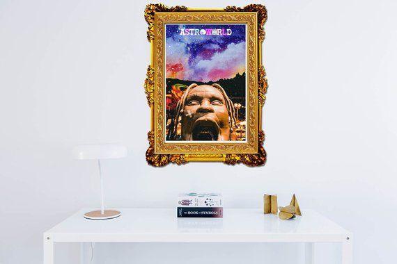 2b3a29b64cd8 Custom Travis Scott Astroworld Park Poster, Hypebeast Poster, Music Posters,  Hip Hop Wall Art, Hipst