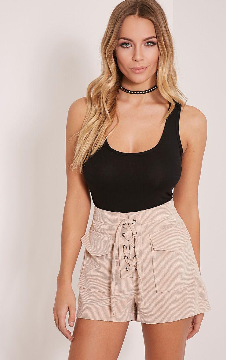 Maura Stone Cord Lace Up Shorts