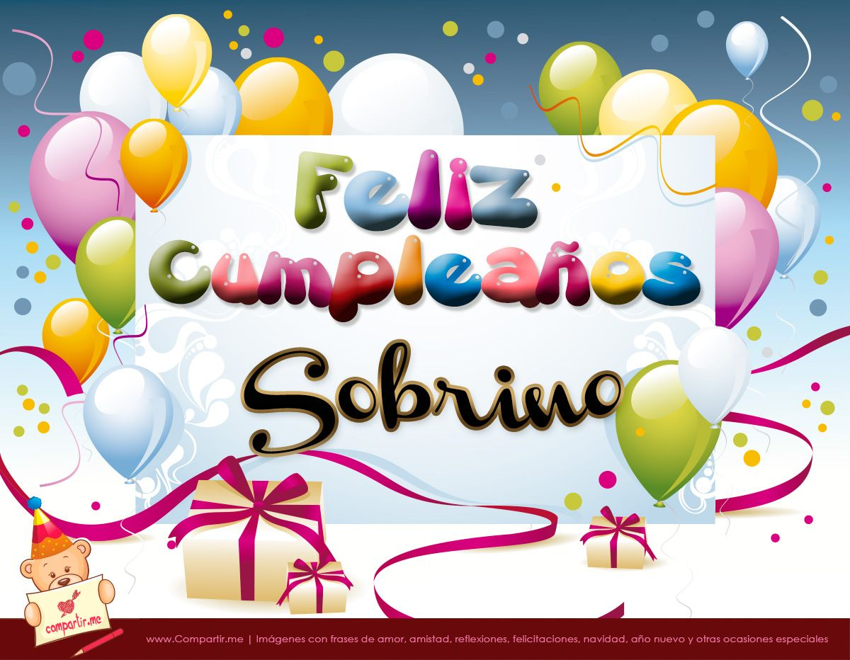 Feliz Cumpleaños Sobrino Tarjetas Pinterest