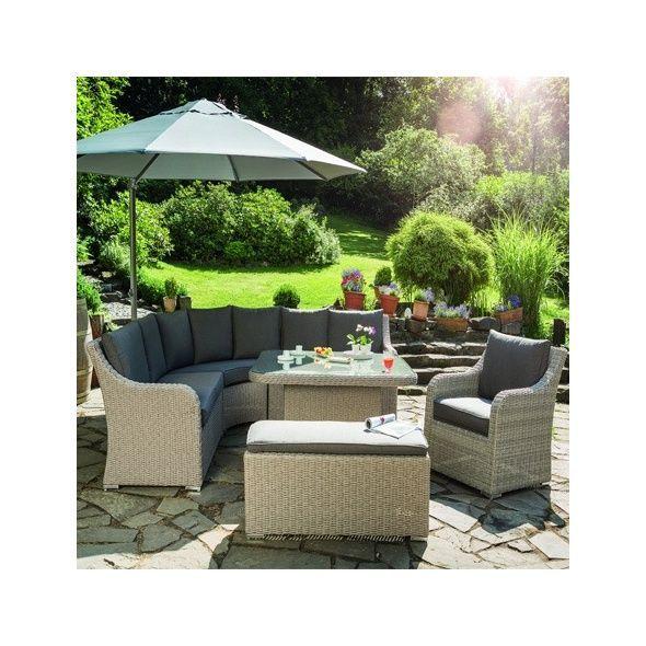 Salon de jardin résine tressée madrid 1 canapé 1 table 1 fauteuil