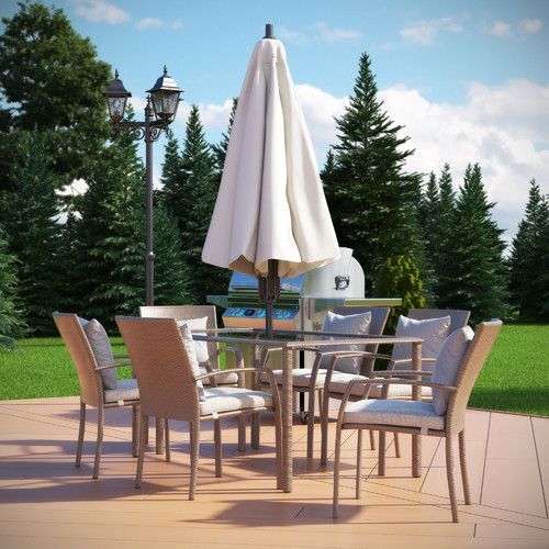 Found It At Allmodern Gretna 7 Piece Dining Set With Cushion
