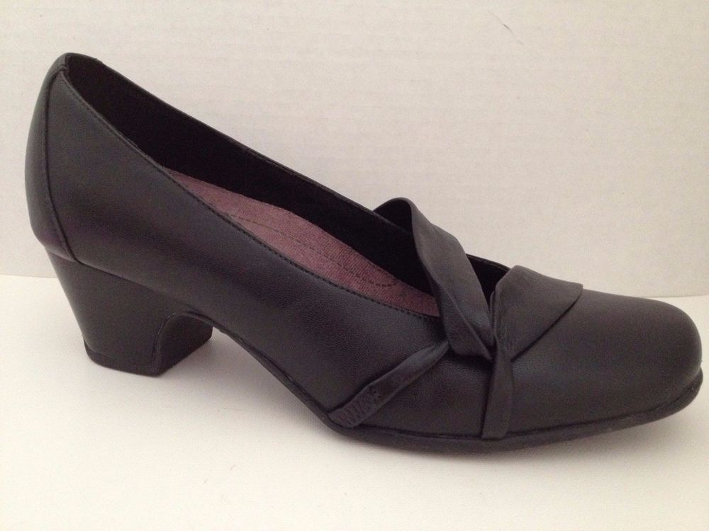 78377736e Clarks Shoes Womens 8 Wide Black Heels Sugar Plum Active Air 8W 84979   Clarks  PumpsClassics  WeartoWork