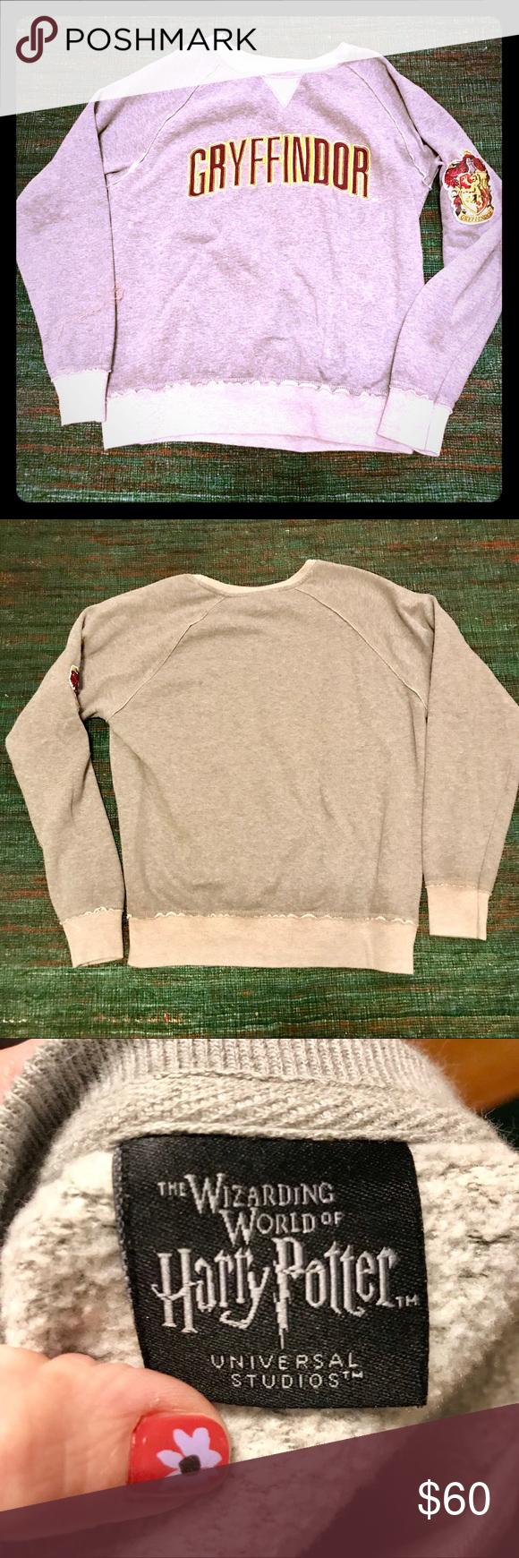 Gryffindor Sweatshirt Like New Sweatshirts Sweatshirts Hoodie Harry Potter Tops [ 1740 x 580 Pixel ]