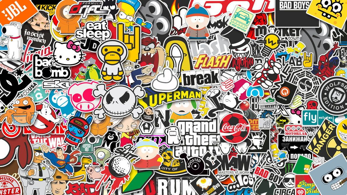 Sticker bomb hd wallpapers download free sticker bomb tumblr pinterest hd wallpapers