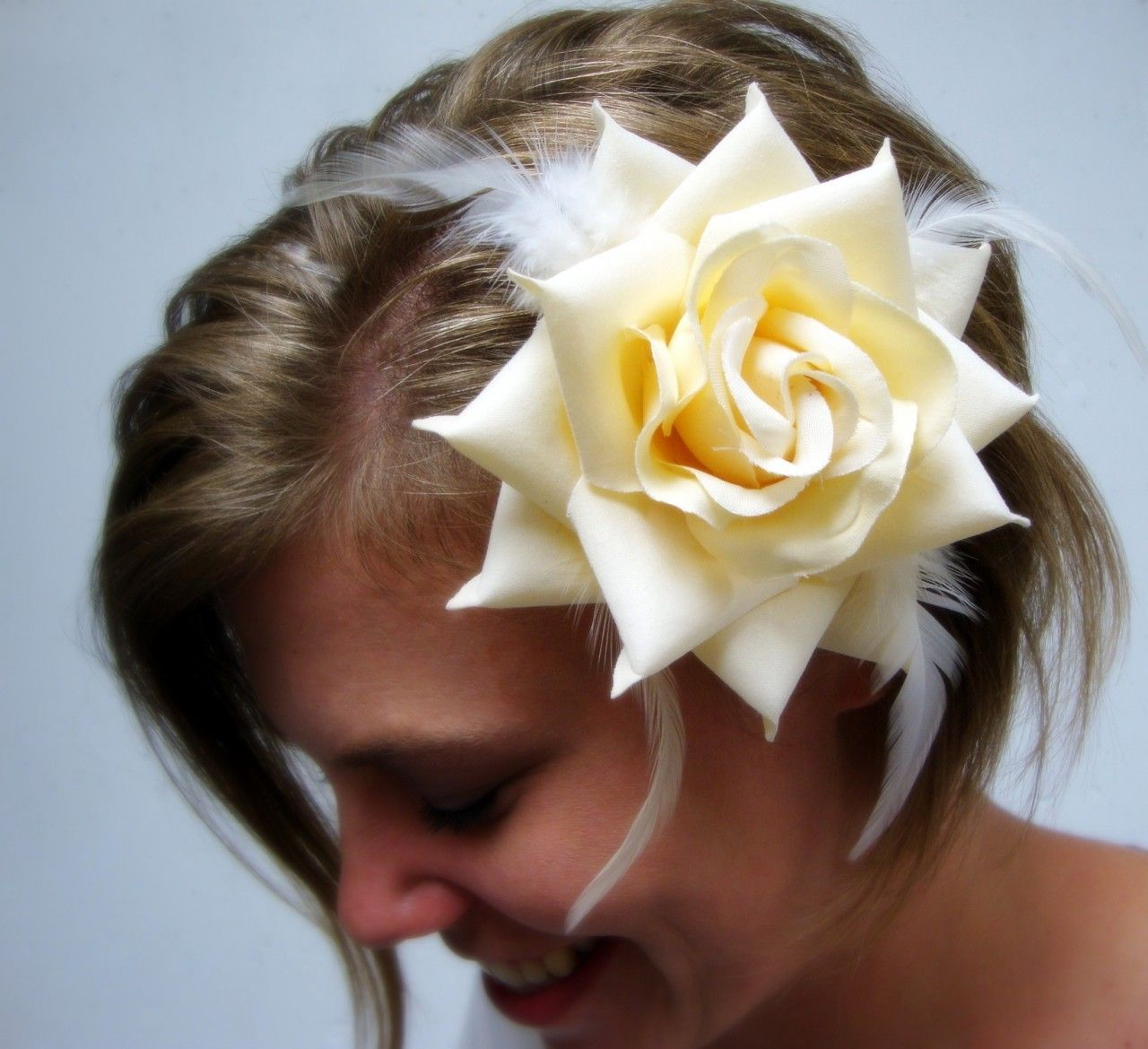 HairFlowers.net - Ivory Rose with Feathers Hair Clip and Pin Back Brooch, $8.99 (http://www.hairflowers.net/hair-flowers/ivory-rose-with-feathers-hair-clip-and-pin-back-brooch.html)