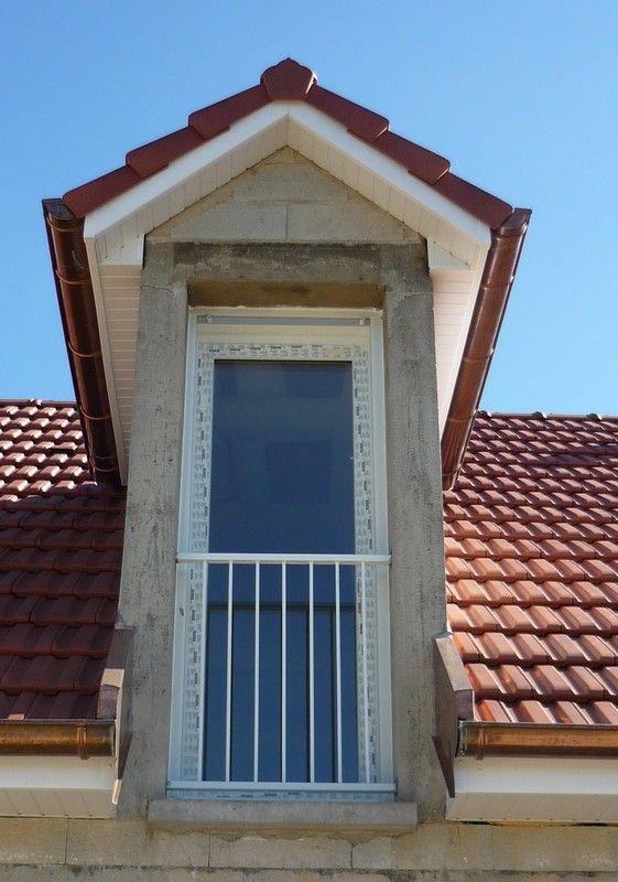 Porte Fenêtre PVC En Lucarne Avec Garde Corps Métallique   Maisons Vincent