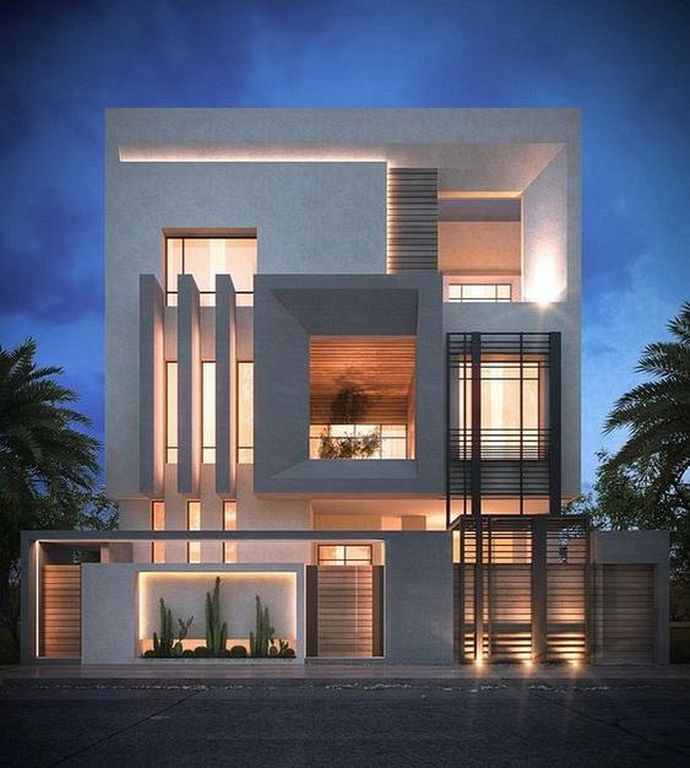 Contemporary Home Exterior Design Ideas: 30 Modern Private House Exterior Design Ideas