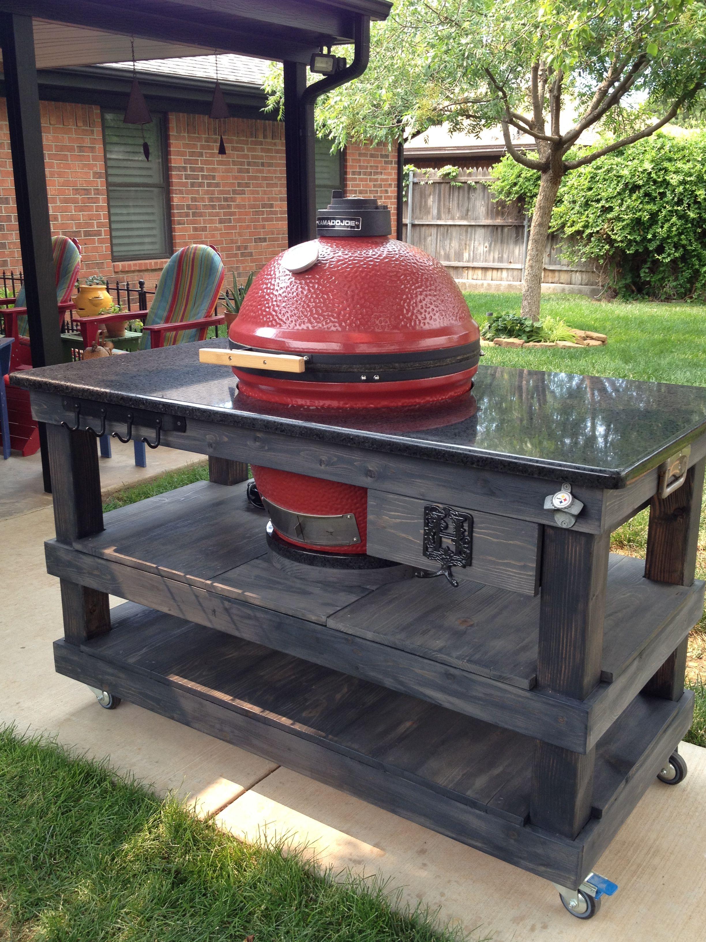 Pin By Mike Hibbs On Kamado Joe Creations Diy Outdoor Kitchen