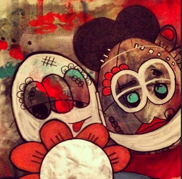 Nouvelle artiste: Angelina Guez. Nom du tableau: aderezo